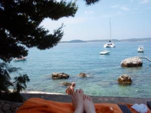 Fötter i Kroatien