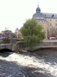 Örebro slott med fors
